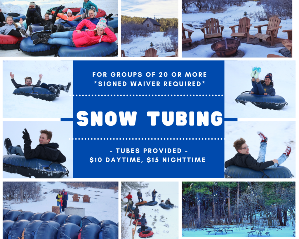 Snow Tubing Collage